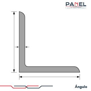 Esquema estructura perfil ángulo de acero
