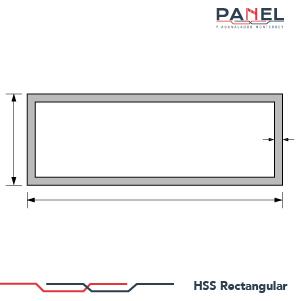 Esquema estructura perfil HSS rectangular