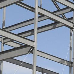 Estructura industrial con vigas IPS